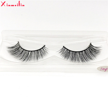 100% 3D real mink hair lashes wholesale natural long individual thick fluffy soft false eyelashes makeup dramatic D04