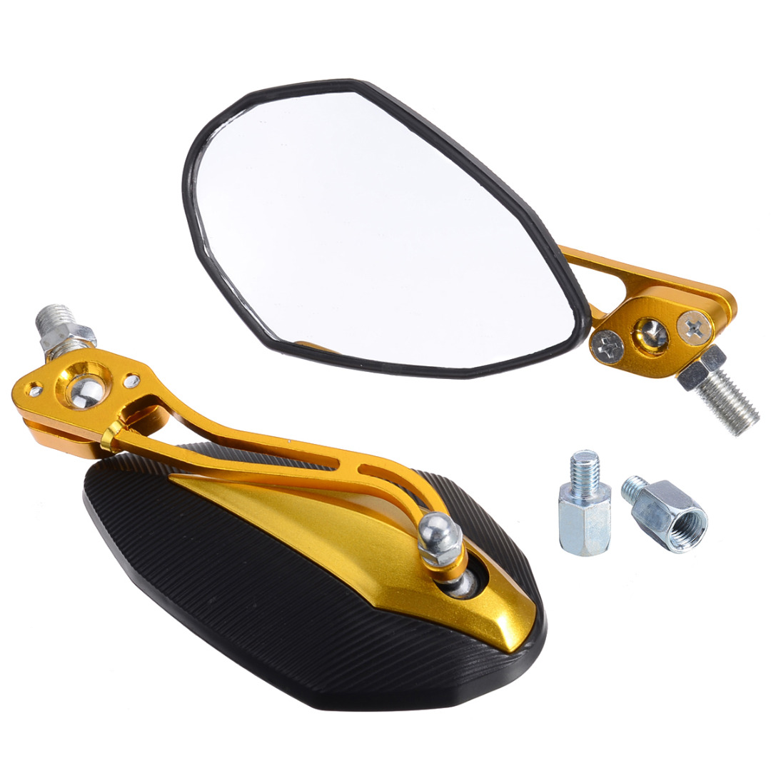 Motocycle Styling 1Pair 8mm 10mm Motorcycle Rearview Mirror Rear View Side Mirrors Black/Blue/Golden/Red/Silver For Honda