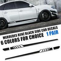 Фирменная Новинка AMG C63 Edition 1 сторона полоса блеск наклейки Обложка наклейки отделка для Mercedes Benz C Class W205