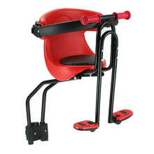 Baby Seat Safety Child Bicycle Seat Bike Front Kids Saddle with Foot Pedals Back Rest Guardrail for MTB Road Bike