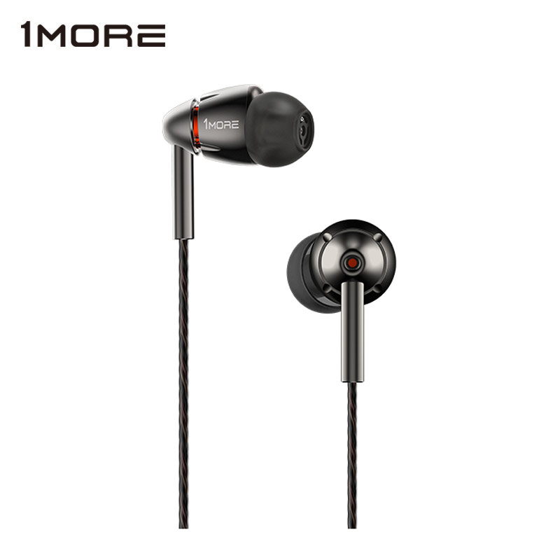 1MORE E1010 Quad Driver In-Ear Earphone with Mic HiFI Hi-Res Earbuds Earphones Headset for Apple Android Xiaomi Phone
