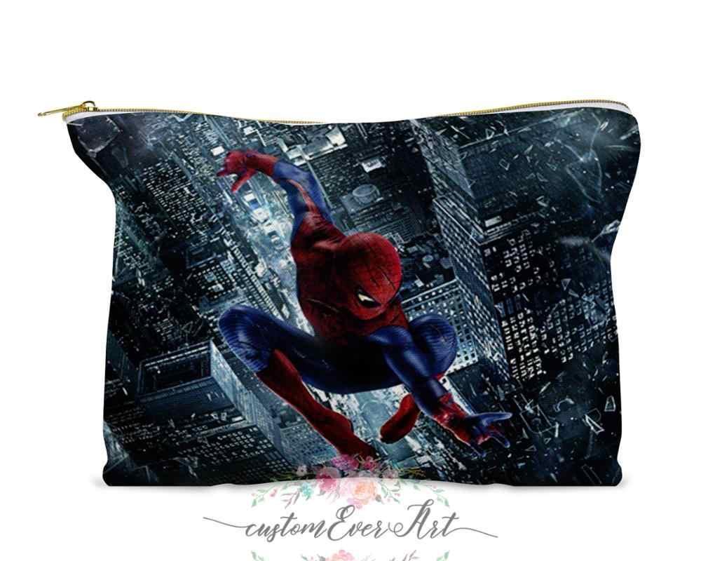 Человек-паук HD косметическая сумка, косметическая сумка Косметическая сумка для макияжа симпатичная дорожная сумка для женщин подарок