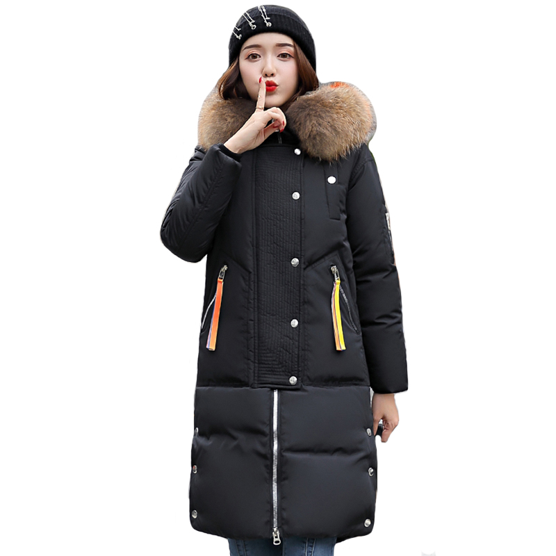 2019 High Quality Winter Jacket Women Warm Thicken Hooded with Fur Female Padded Coat Long   Parka   Mujer Invierno