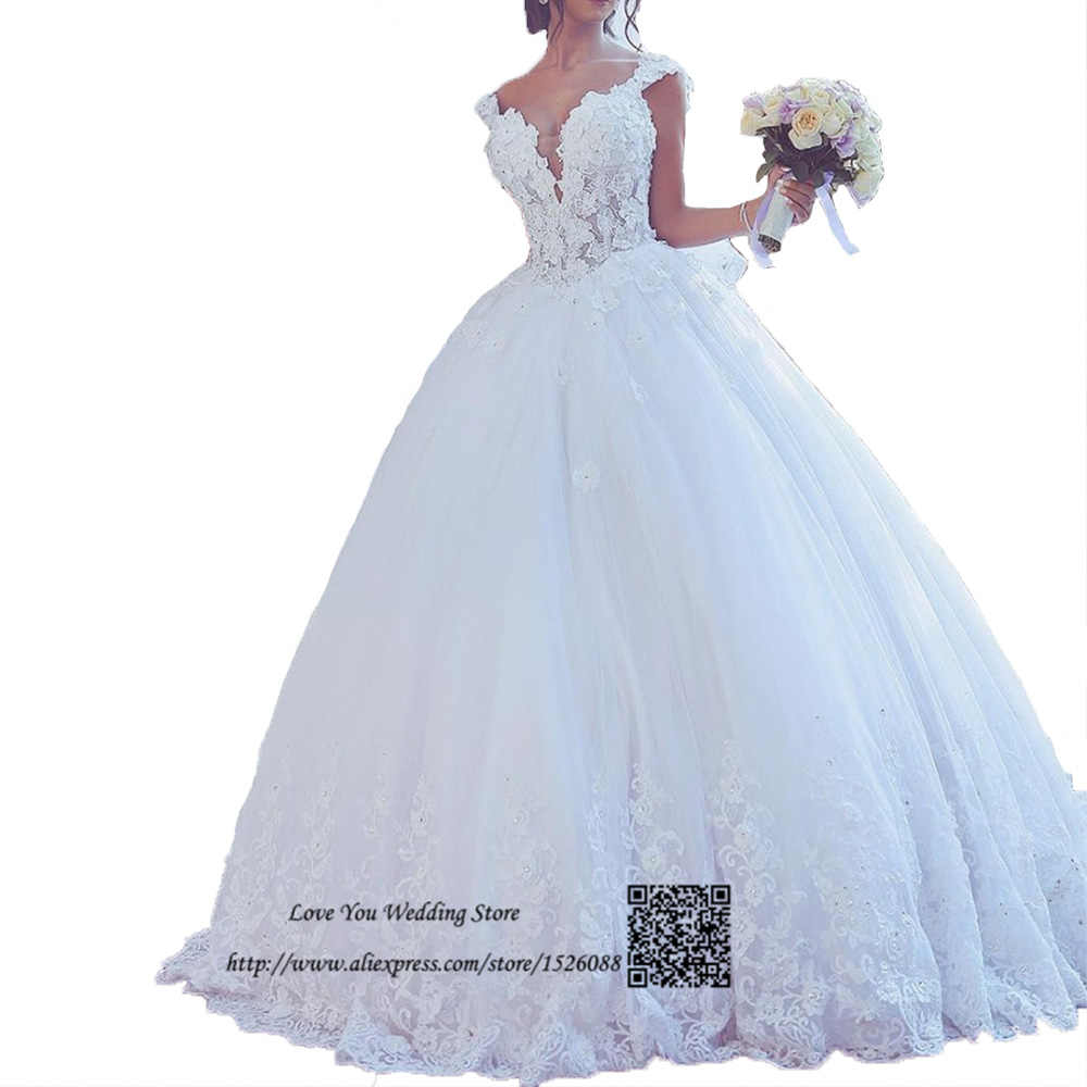 Immagini Abiti Da Sposa.Abiti Da Sposa Vintage Ball Gown Wedding Dresses Turkey Lace China