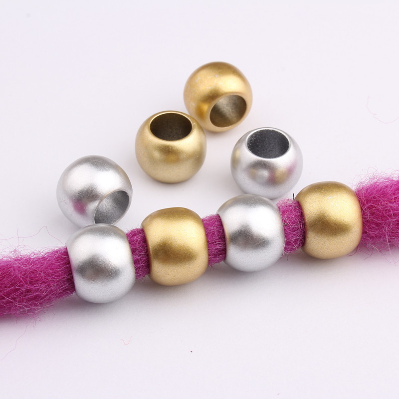 10/20 Pcs Plastic Gold Color Hair Braid Rings Accessories Clips For Women Girls Dreadlocks Beads Circle Styling Tool