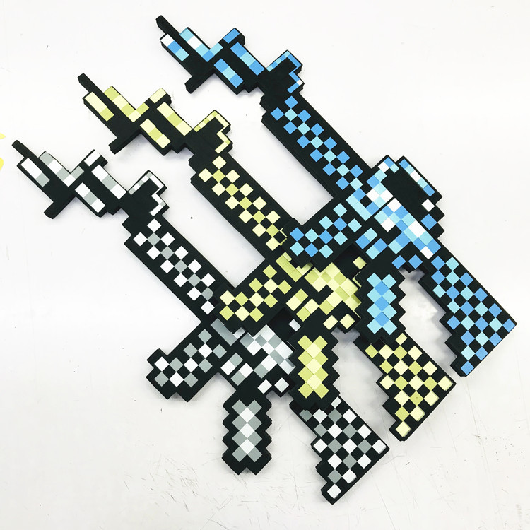 Newest Design Mini Size MineCrafted Blue Diamond Sword Soft EVA Foam Toy Sword Pistol Toys For Children  Kids Crafts Diy Toys