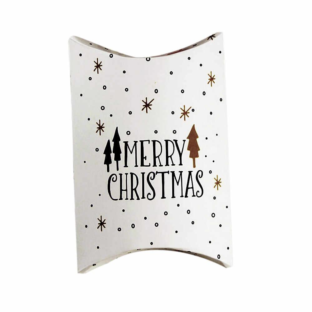 Wesołych cukierki bożonarodzeniowe na prezent pudełka Deer choinka pudełka opakowania dla gości prezent torba świąteczna sprzyja dziecięca torba na prezent