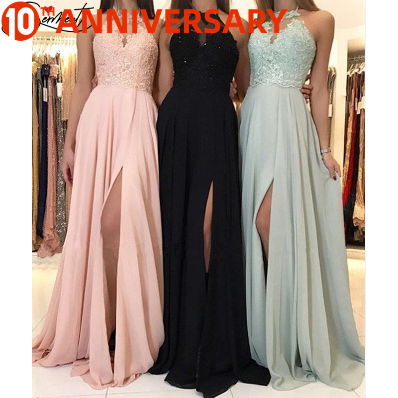 OLLYMURS 2020 Spring/summer New European/American Criss-Cross Solid Color Evening Dress Long Dress Chiffon Dress Evening Gown