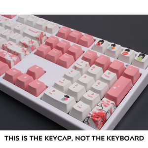 Image 5 - OEM PBT Keycaps 세트 Keycap 염료 승화 Ukiyo e 일본 만화 마우스 패드 GK61 체리 MX 스위치 기계식 키보드
