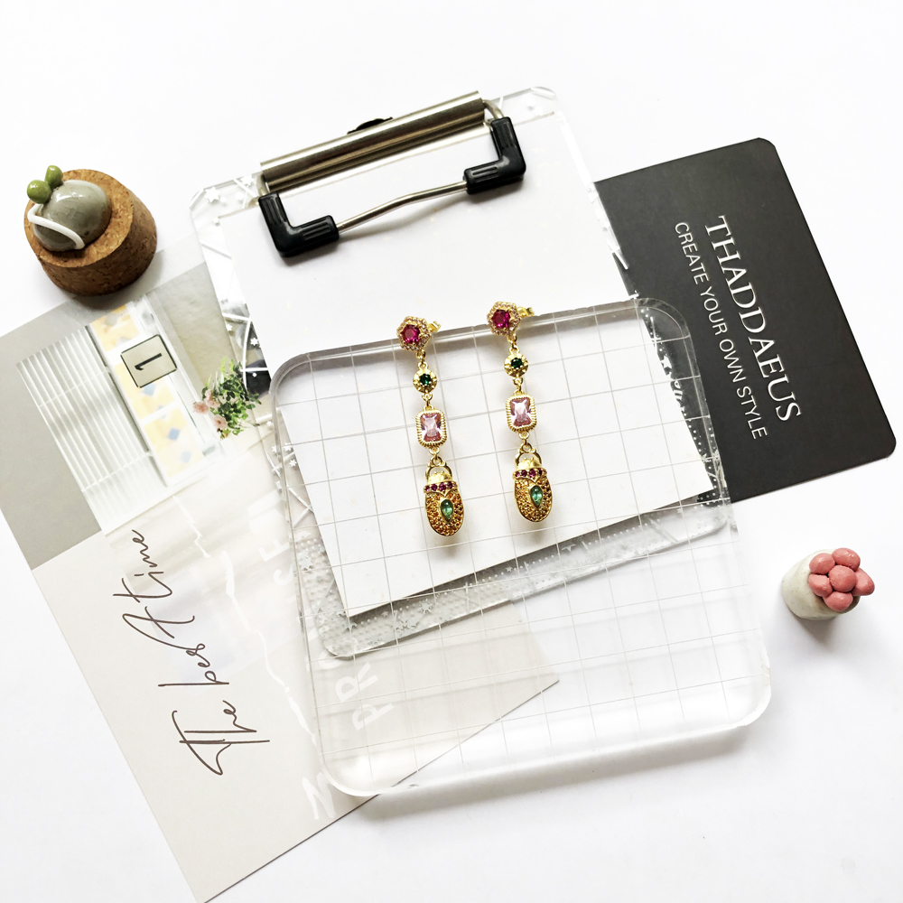 Drop Earrings Scarab Motif,Good Fine Jewelry Vintage Magical Talismans For Women,2020 Autumn New Lucky Gift 925 Sterling Silver
