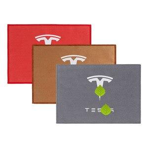 Image 4 - Asciugamano per pulizia Auto addensato in pile corallo Premium cura in microfibra asciugamani per acqua forte per Tesla modello 3 X S accessori Auto
