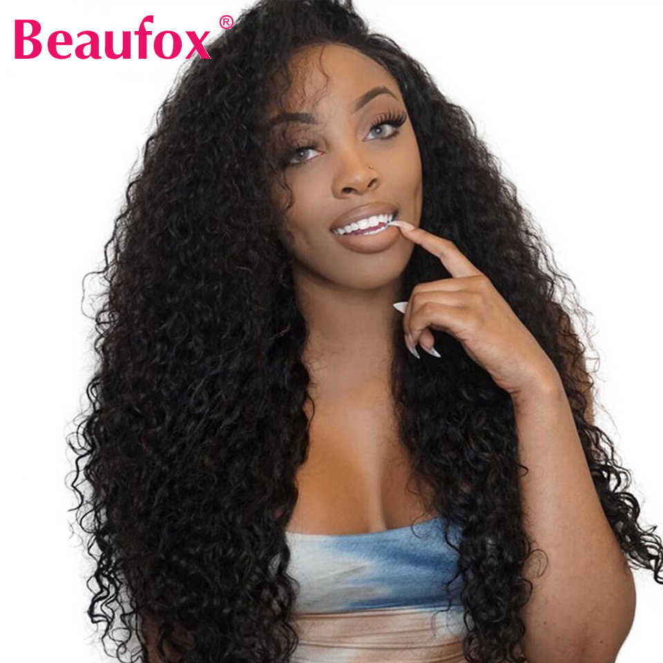 13*4 Indian Water Wave Lace Front Human Hair Wigs For Women Pre Plucked Lace Front Wigs With Baby Hair Remy Lace Wig 150%Beaufox