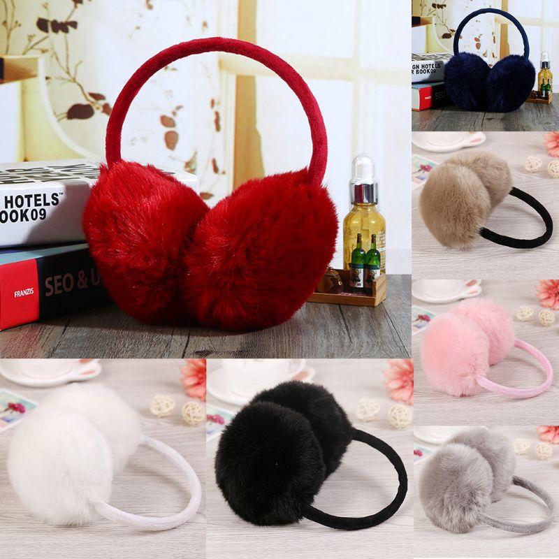 2019 Winter Earmuff Imitation Rabbit Women Earmuffs Ear Warmers Large Plush   LX9E
