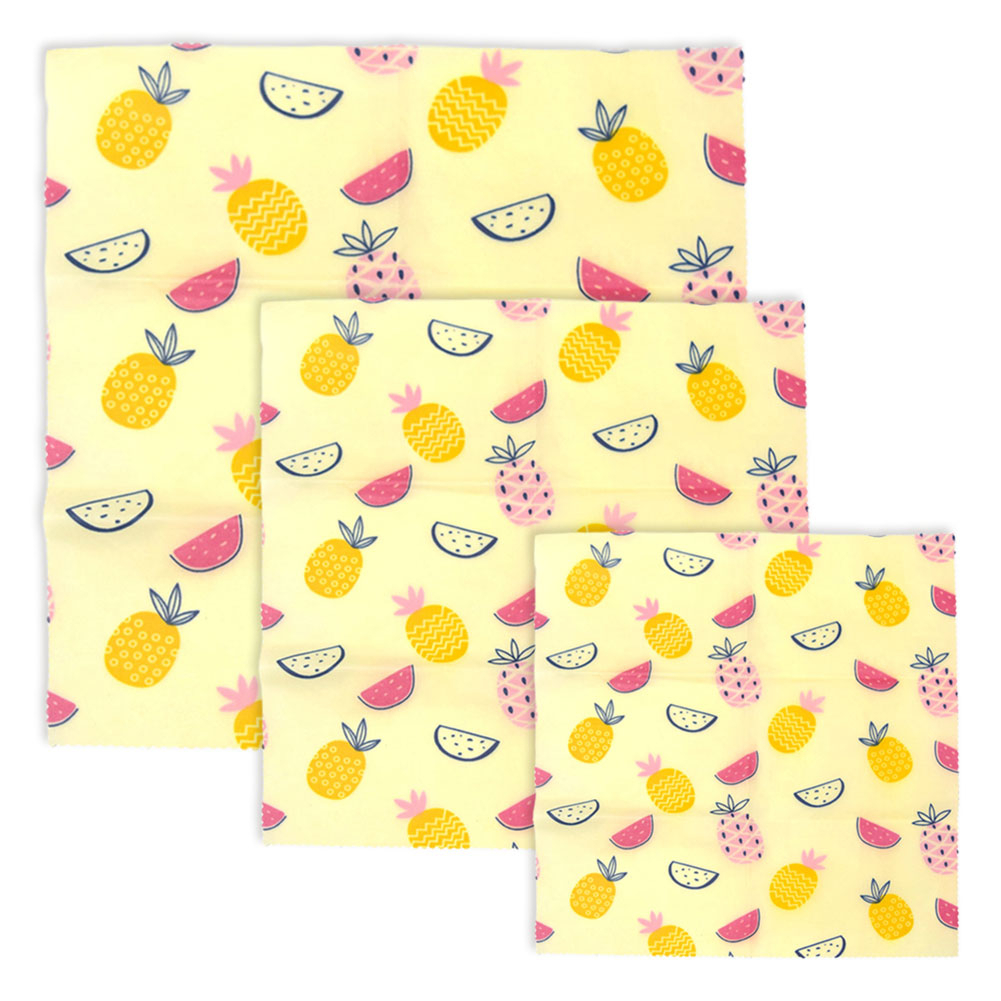 3Pc Reusable Beeswax Cloth Wrap Seal Food Fresh Bag Beeswax Food Storage Wrap EcoFriendly Snack Wrap Kittchen Tools in Saran Wrap Plastic Bags from Home Garden