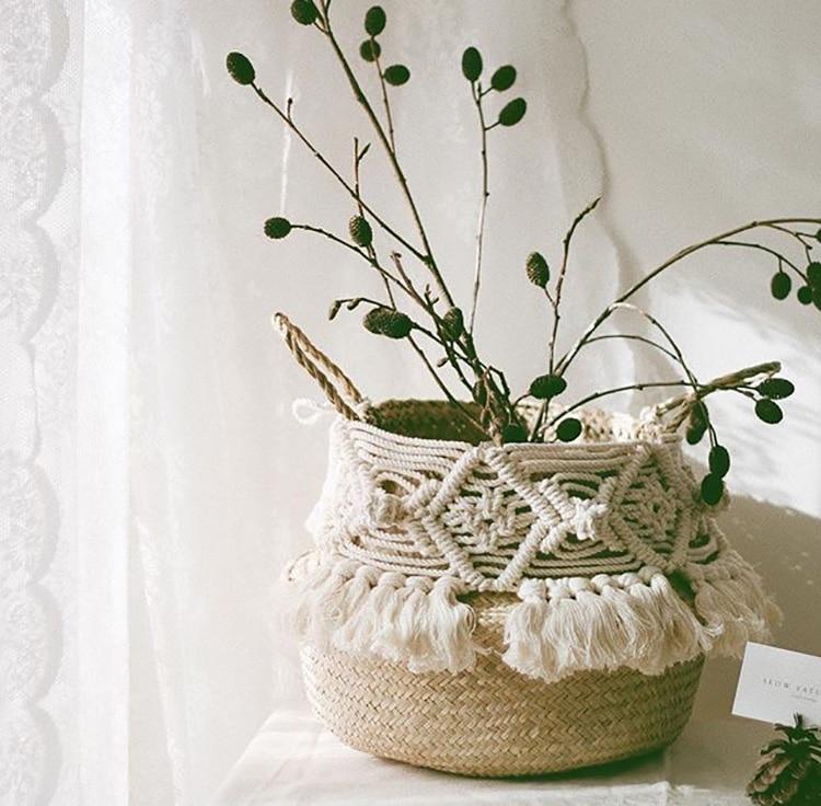 Eco Friendly Handmade Bohemian Wicker Basket Eco Friendly Home Baskets » Planet Green Eco-Friendly Shop