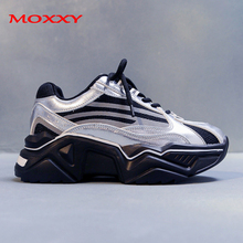 2019 New Silver Chunky Sneakers Women Platform High Heel Thick Sole Retor Designer Dad Sneaker Running Casual chaussures femme