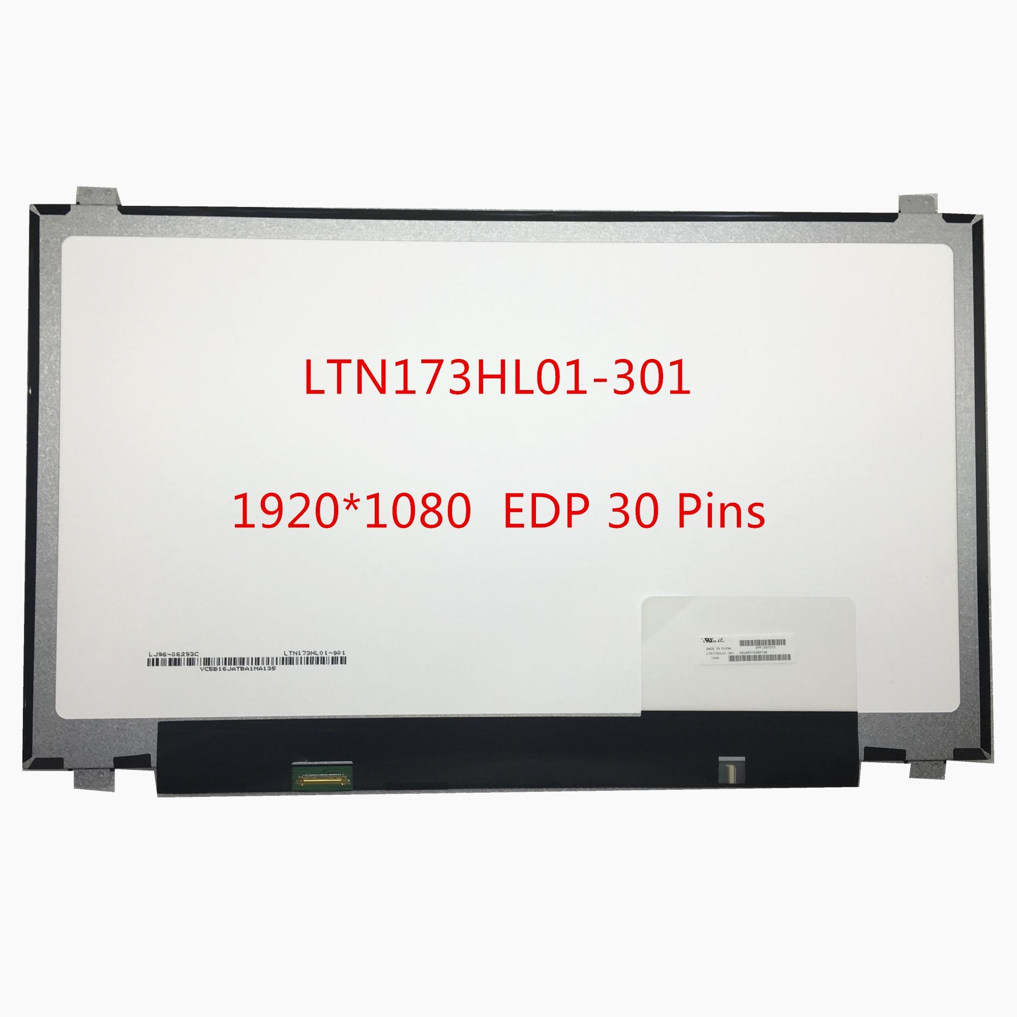 Free Shipping LTN173HL01-301 LTN173HL01 301 LTN173HL01-401 LP173WF4 SPF3 SPF2 N173HCE-E31 B173HAN01.0 B173HAN01.1 1920*1080 IPS