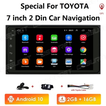 2+16 2 din android Universal Car Multimedia Player Car Radio Player Stereo for toyata VIOS CROWN CAMRY HIACE PREVIA COROLLA RAV4 image
