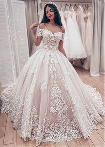 Image 2 - JIERUIZE robe de mariée en dentelle, robes de mariage luxueuses, avec des épaules dénudées, en amoureux