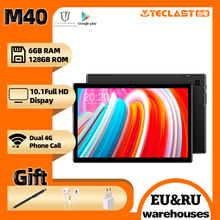 Teclast M40 tablet 10.1″ UNISOC T618 Octa Core Android10 6GB RAM 128GB ROM Dual 4G Phone Call Bluetooth5.0 OTG Type-C tablets pc