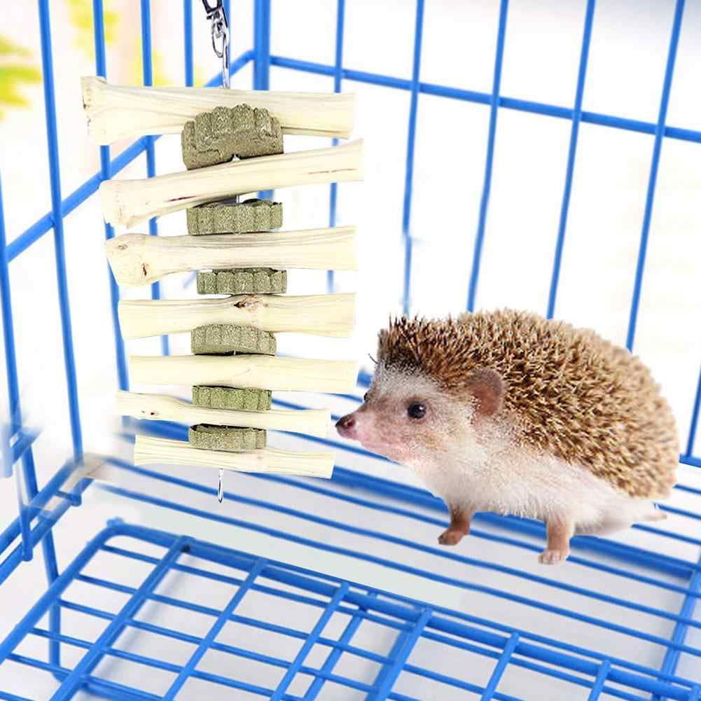 Dentes de coelho mastigando brinquedos para animais de estimação dentes saudáveis brinquedos naturais alfafa bolo ideal para chinchila cobaias hamsters dentes moagem