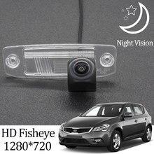Owtosin câmera de visão traseira hd 1280*720, olho de peixe para kia ceed (ed) acessórios para estacionamento automotivo, 2006 2007 2008 2009 2010 2011 2012