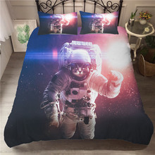 A Bedding Set 3D Printed Duvet Cover Bed Astronaut Cat Home Textiles for Adults Bedclothes with Pillowcase #MAO02
