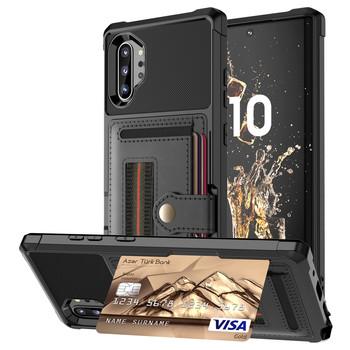 Do Samsung Galaxy Note 20 S21 Ultra 10 9 S20 S21 S10 S9 Plus S10e S10 + etui ze skóry wielu posiadacz karty portfel Retro luksusowa okładka tanie i dobre opinie WeFor CN (pochodzenie) Częściowo przysłonięte etui 2020 New Hot Selling Mobile Smart Phone Bag Case Accessories Zwykły