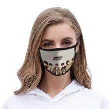Ateez prining kawaii máscara facial reutilizável de alta qualidade 3d ateez para mulheres/homens máscara de festa anime venda quente dropshipping