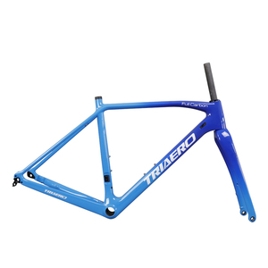 Image 2 - ICAN carbon flat mount disc brake frame cyclocross all internal cable route di2 carbon CX frameset 142*12 or 135*10mm rear space