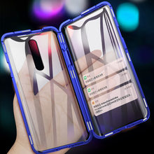 Magnetic adsorption Metal Case For redmi k20 pro Note 7 Front Back Tempered Glass Full Body Cover For xiaomi Mi 9 SE CC9 6X A2(China)