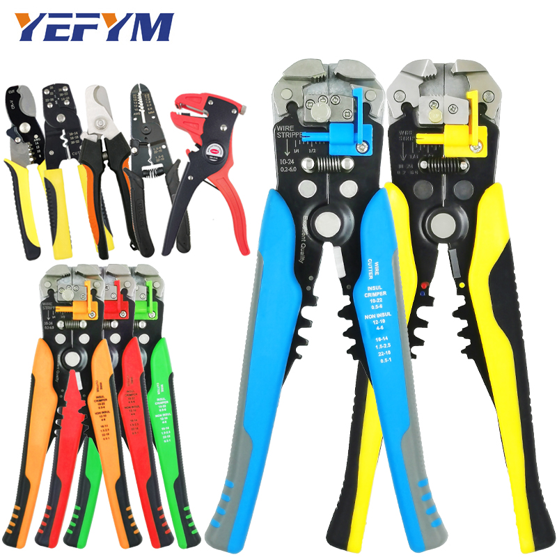 Wire Stripper Pliers Capability 0.2-6mm2 Multi Electrical Acutomatic Manual Stripper Cutter Clamp Repair Tools Collection1