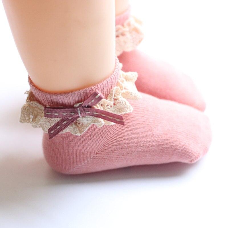 Cute Baby Girl Cute Socks Bowknot Design Cotton Short Socks Infant Children Casual Socks