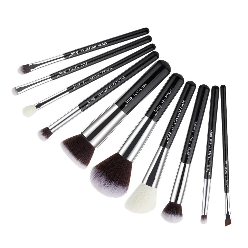 Image 3 - Jessup Beauty 10pcs Goat Synthetic Hair Makeup Brushes Set Eyeshadow Foundation Powder Concealer Cosmetic Kit  5 colorsbrush tool kitjessup brushesmakeup brushes set makeup -