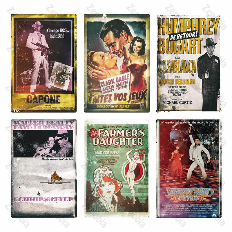 Lámina clásica, placa de póster de Metal, cartel de Metal Vintage para película, decoración de pared para Bar, Pub, hombre, cueva, cartel de estaño para pintura de Metal