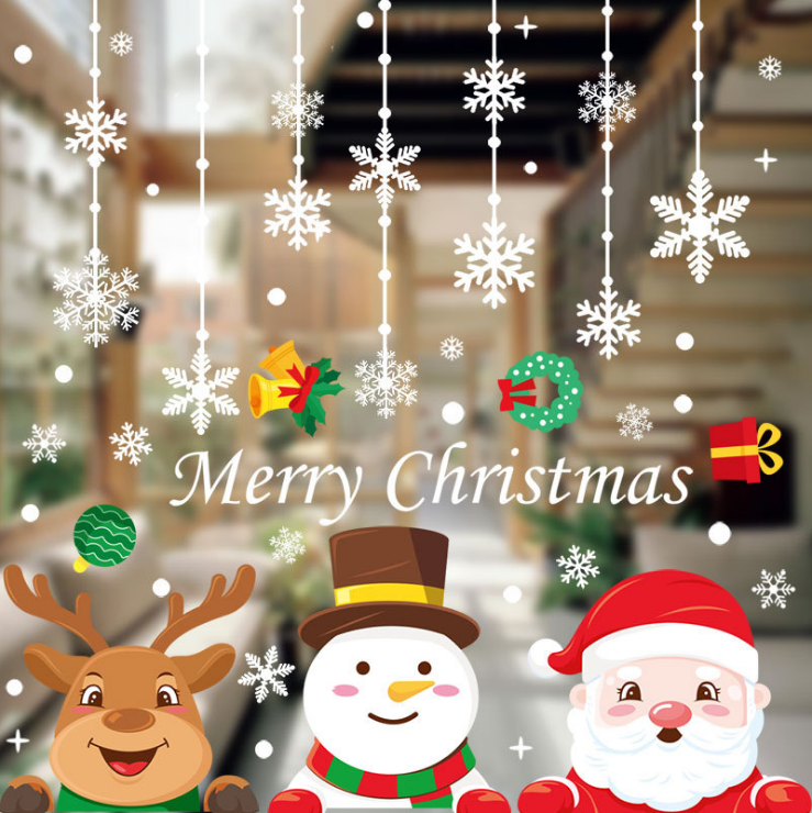 Adesivos de decoração de janela de natal,