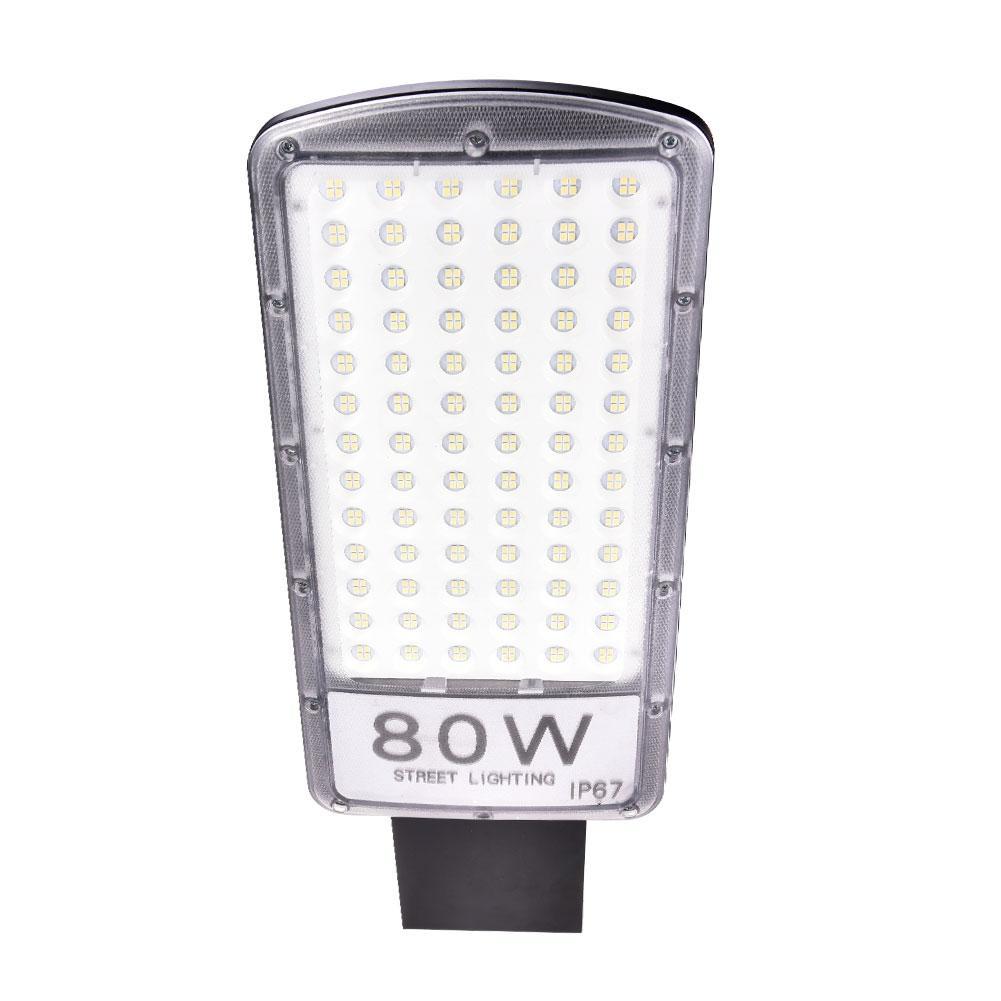 80W Street Light With Rod 220V Cool White LED Lamp Waterproof Led Street Light Lighting Wall Garden Park Highway Road Spot Lamp