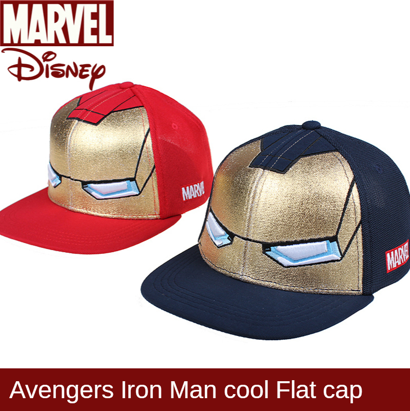 Original Marvel Iron Man Children's Baseball Cap Boy Cap Mesh Cotton Sunscreen Hat Hats