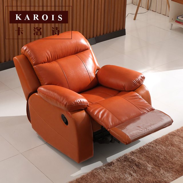 Leather Recliner Home Theater Sofa Set 3