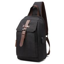 New Multifunction Crossbody Bag for Men Anti-theft Shoulder Messenger Bags Male Short Trip Chest Bag Male Bag