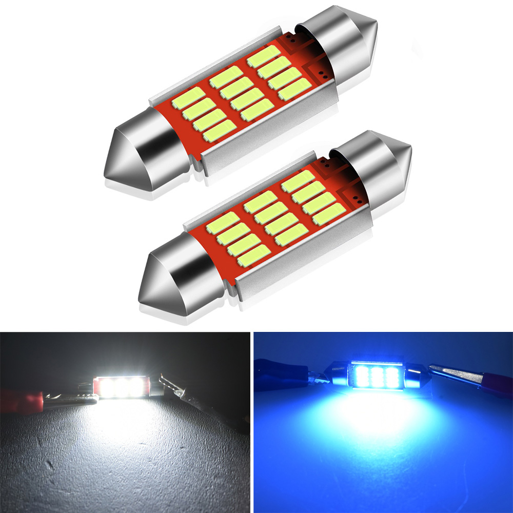 2x 36mm Festoon C5W Led Canbus Car Interior Light For <font><b>Hyundai</b></font> Solaris Getz Accent Sonata Tucson <font><b>Santa</b></font> <font><b>Fe</b></font> Elantra Azera Veloster image