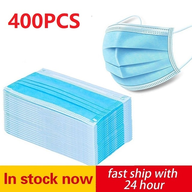 200pcs Face Mouth Protective Mask Disposable Protect 3 Layers Filter Dustproof Earloop Non Woven Mouth Masks 12 hours Shipping
