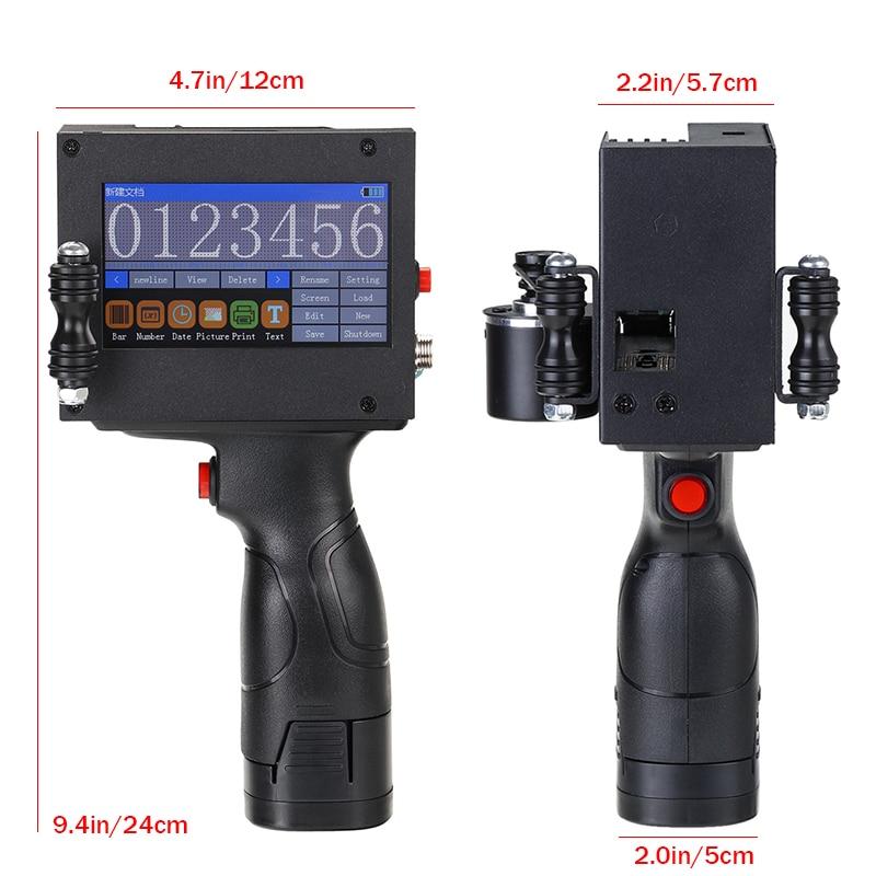110-220 В светодиодный сенсорный экран ручной принтер 600 dpi Интеллектуальный USB qr-код принтер для этикеток струйный США штекер кодировочная маш...