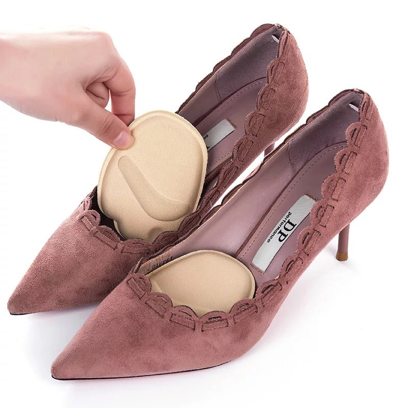 1 Pair Heel Pad Soft High Heels Half Yard Mat Arch Only Eat Orthopedic Insert Insole Foot Forefoot Protection Pad Women