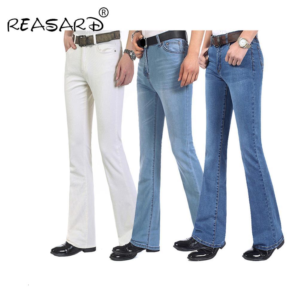 Autumn New Arrival Mens Flared Leg Jeans Trousers High Waist Long Flare Jeans For Men Bootcut Jeans Hommes Bell Bottom Jeans Men