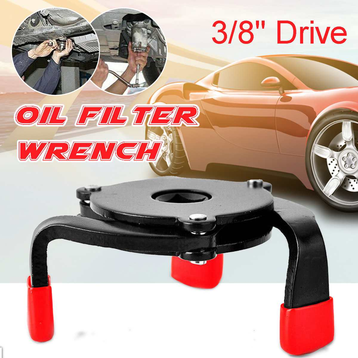One Way 3 Jaw Universal Oil Filter Wrench Change Machine Oil Grid Filter Wrench Anti-Slip Edging Oil Core Disassembly Ball Head