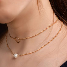 New Pendant Necklace for Women Long Chain Round Charm Statement Choker 2019 Collares Necklace Wedding Jewelry(China)