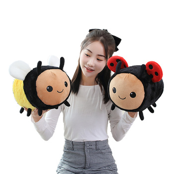 цена Nice 1PC 20cm/30cm/40CM New Bee Plush Toy Pillow Children's Birthday Gift Cute Kawaii Animal Doll Sleeping Soft Sofa Decoration онлайн в 2017 году