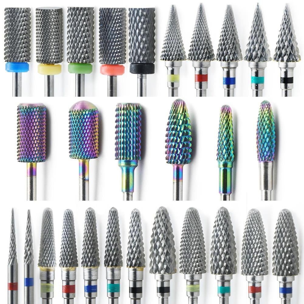 Professional Rainbow Tungsten Carbide Nail Drill Bit Manicure Pedicure Machine Electric Manicure Drill & Accessory Tools DF025