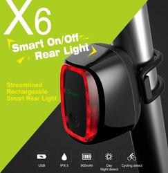 Meilan X6 беспроводной задний лазерный свет умная задняя лампа USB перезаряжаемая велосипедная безопасная Светодиодная лампа meilan S1 задний фонар...